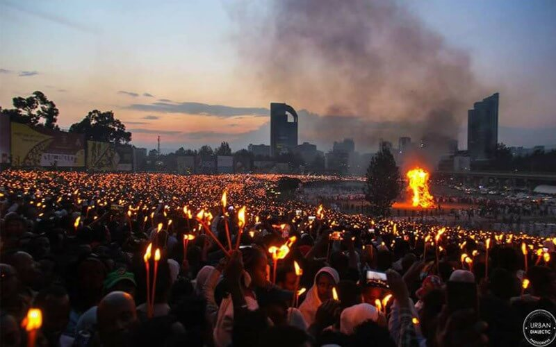 Maskal Festival in Addis Ababa
